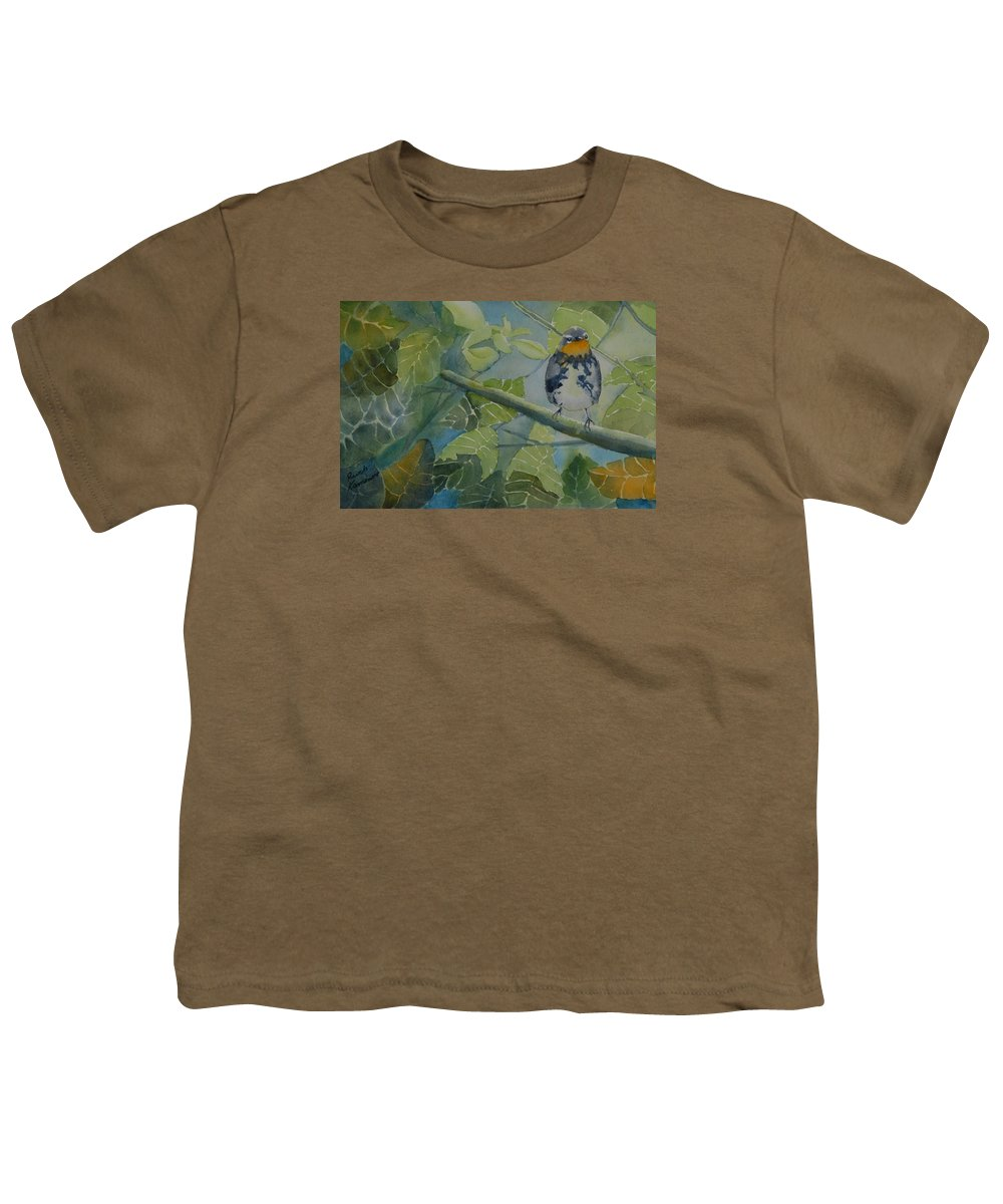 Bird Youth T-Shirt featuring the painting Blackburnian Warbler I by Ruth Kamenev