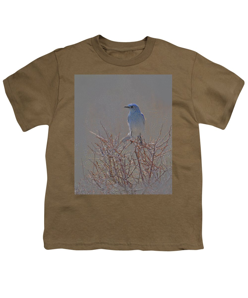 Colored Pencil Youth T-Shirt featuring the photograph Blue Bird Colored Pencil by Heather Coen
