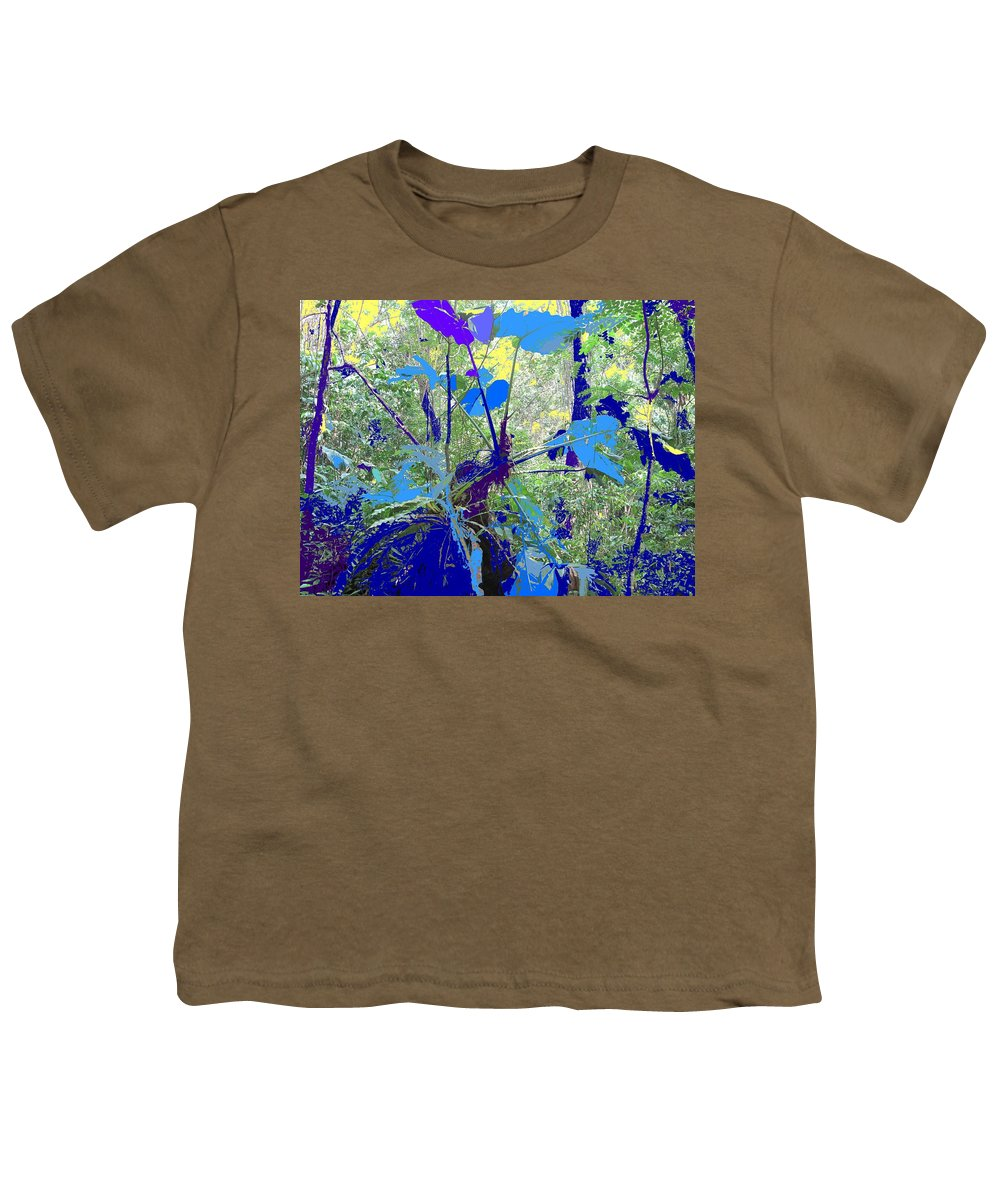 Youth T-Shirt featuring the photograph Blue Jungle by Ian MacDonald