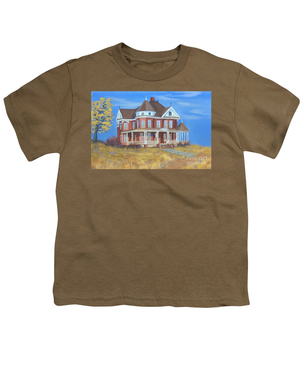 Boulder Youth T-Shirt featuring the painting Boulder Victorian by Jerry McElroy
