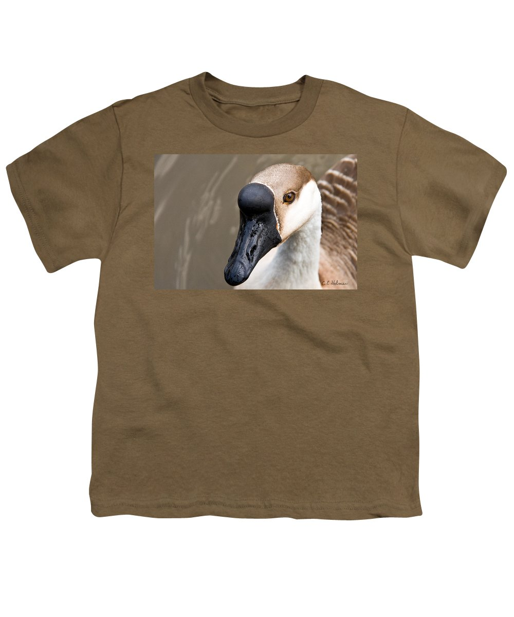 Chinese Brown Goose Youth T-Shirt featuring the photograph Brown Eye by Christopher Holmes