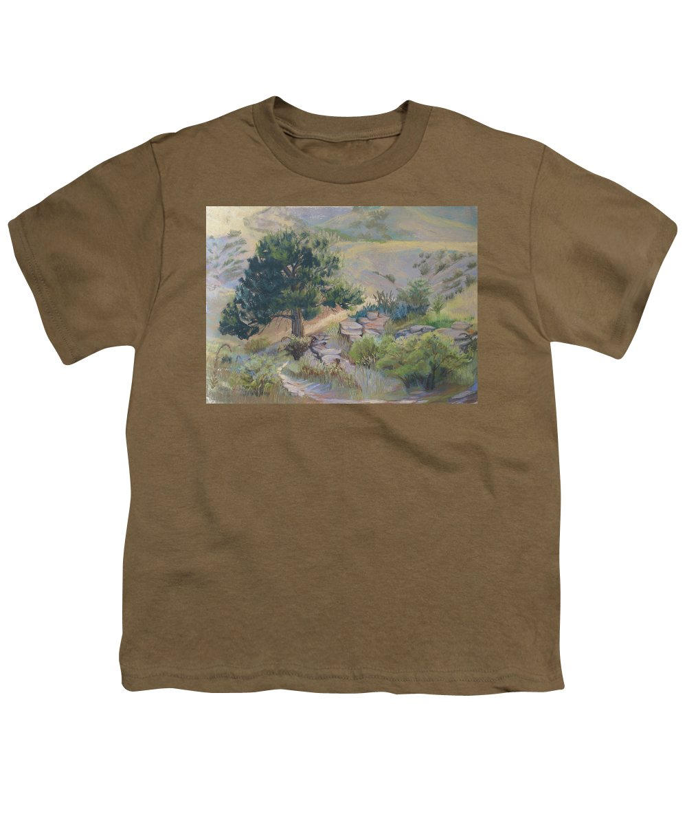 Pine Tree Youth T-Shirt featuring the painting Buckhorn Canyon by Heather Coen