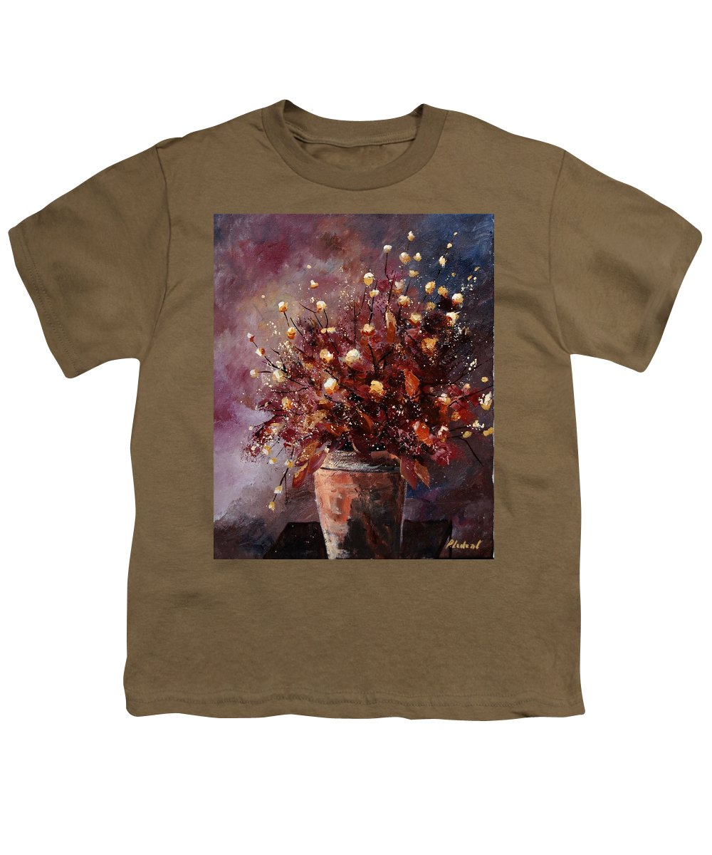 Poppies Youth T-Shirt featuring the painting Bunch 56 by Pol Ledent