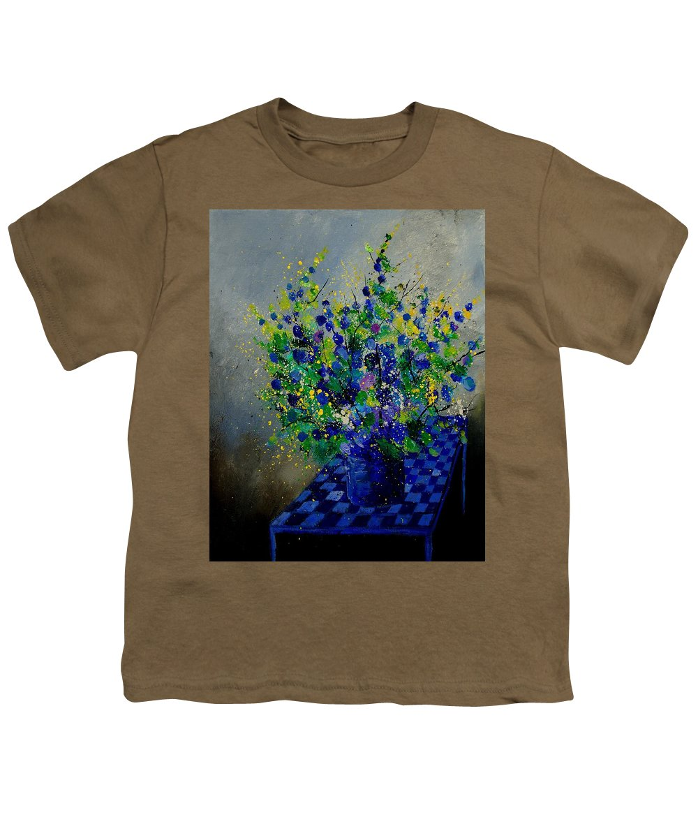 Flowers Youth T-Shirt featuring the painting Bunch 9020 by Pol Ledent