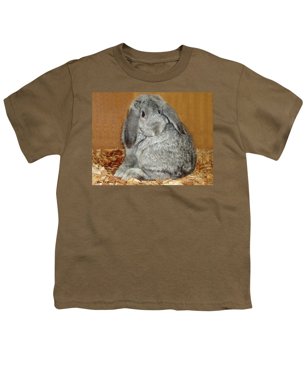 Bunny Youth T-Shirt featuring the photograph Bunny by Gina De Gorna