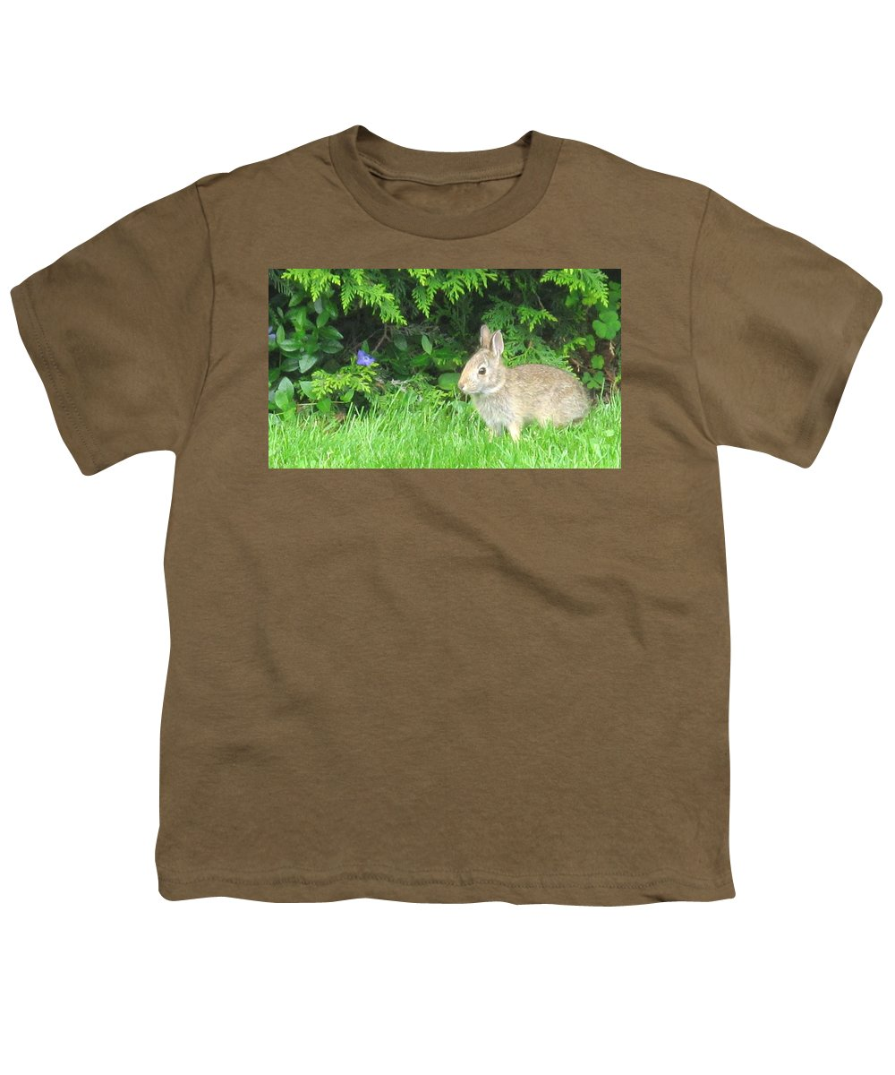 Rabbit Youth T-Shirt featuring the photograph Bunny In Repose by Ian MacDonald