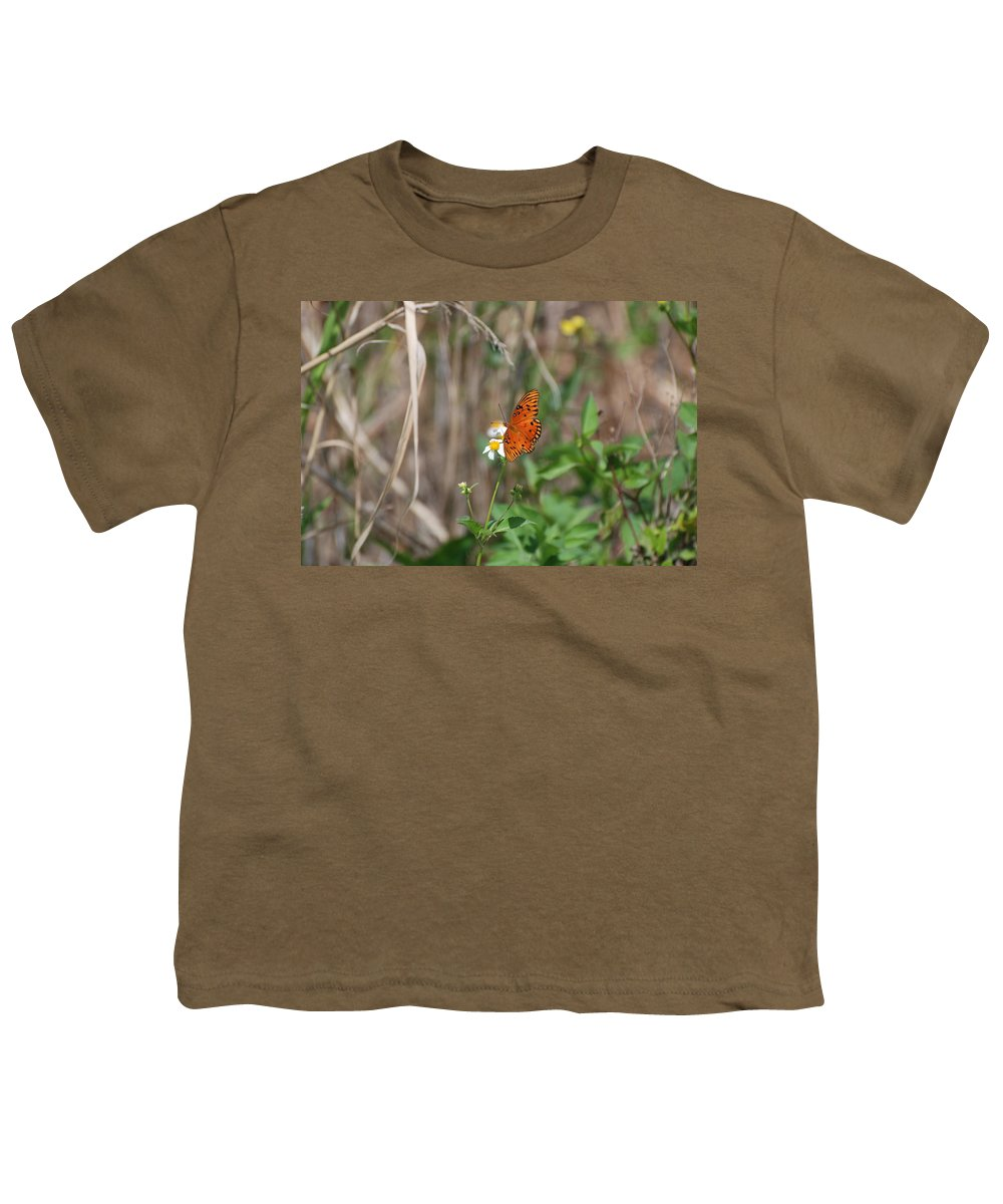 Nature Youth T-Shirt featuring the photograph Butterfly On Flower by Rob Hans