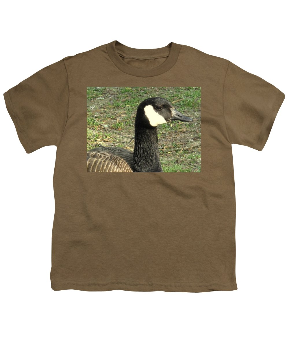 Canada Youth T-Shirt featuring the photograph Canada Goose by Ian MacDonald