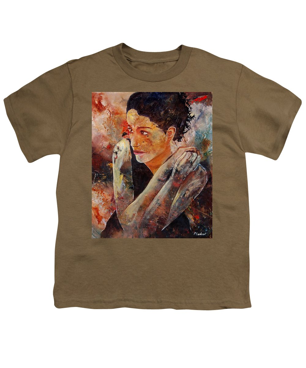 Figurative Youth T-Shirt featuring the painting Candid Eyes by Pol Ledent