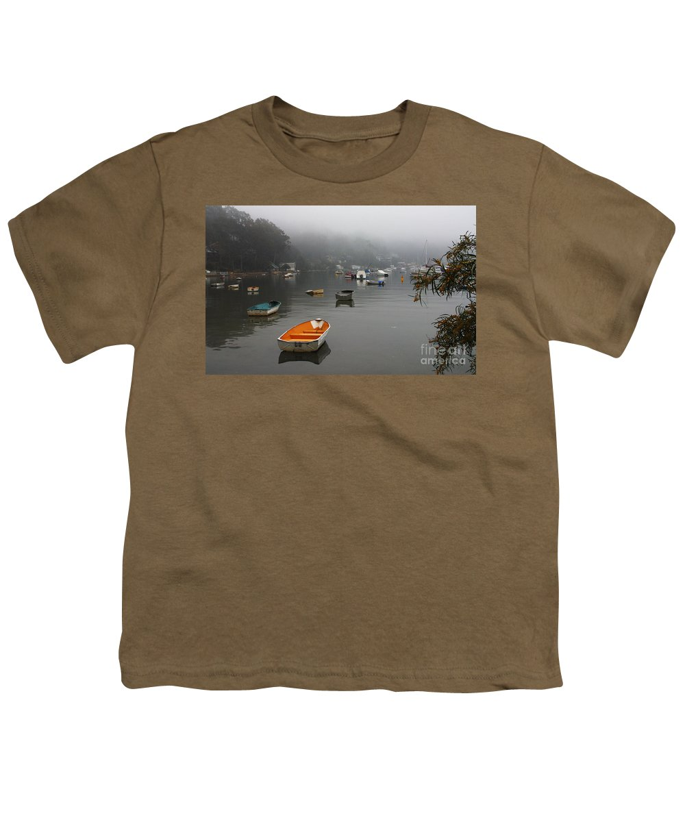 Mist Youth T-Shirt featuring the photograph Careel Bay Mist by Avalon Fine Art Photography