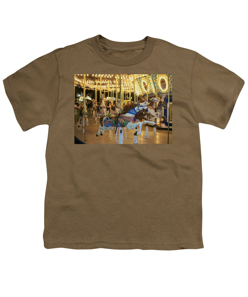 Carousel Horse Youth T-Shirt featuring the photograph Carousel Horse 3 by Anita Burgermeister