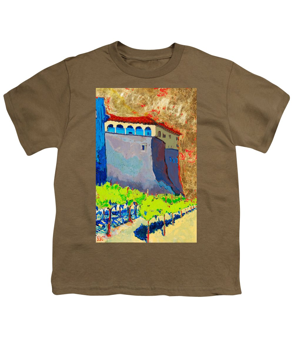 Castle Youth T-Shirt featuring the painting Castello Di Villafranca by Kurt Hausmann