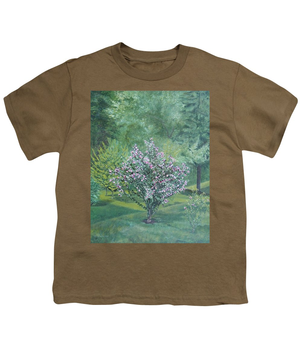 Blooming Youth T-Shirt featuring the painting Charles Street by Leah Tomaino
