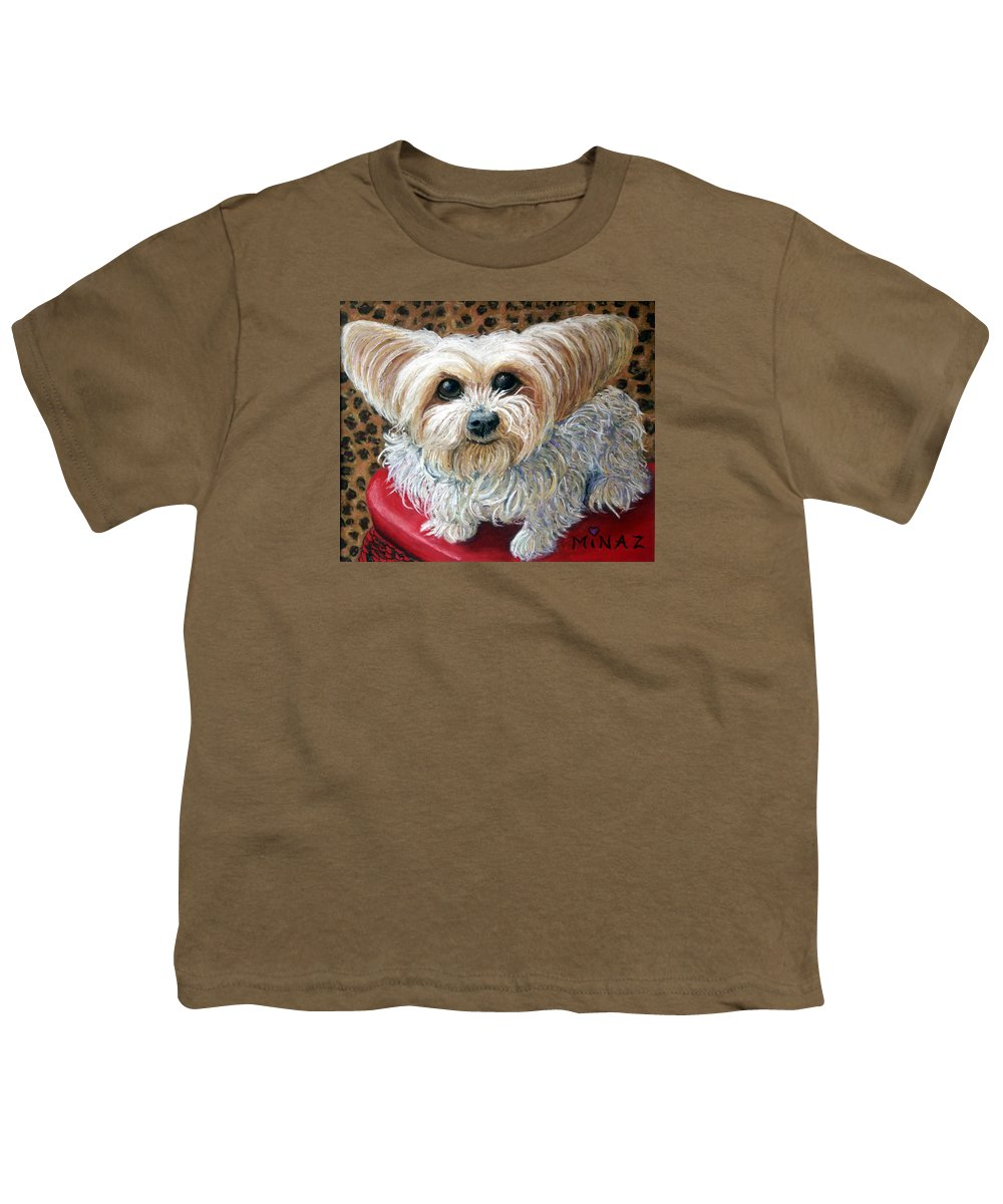 Dog Youth T-Shirt featuring the painting My Friend by Minaz Jantz