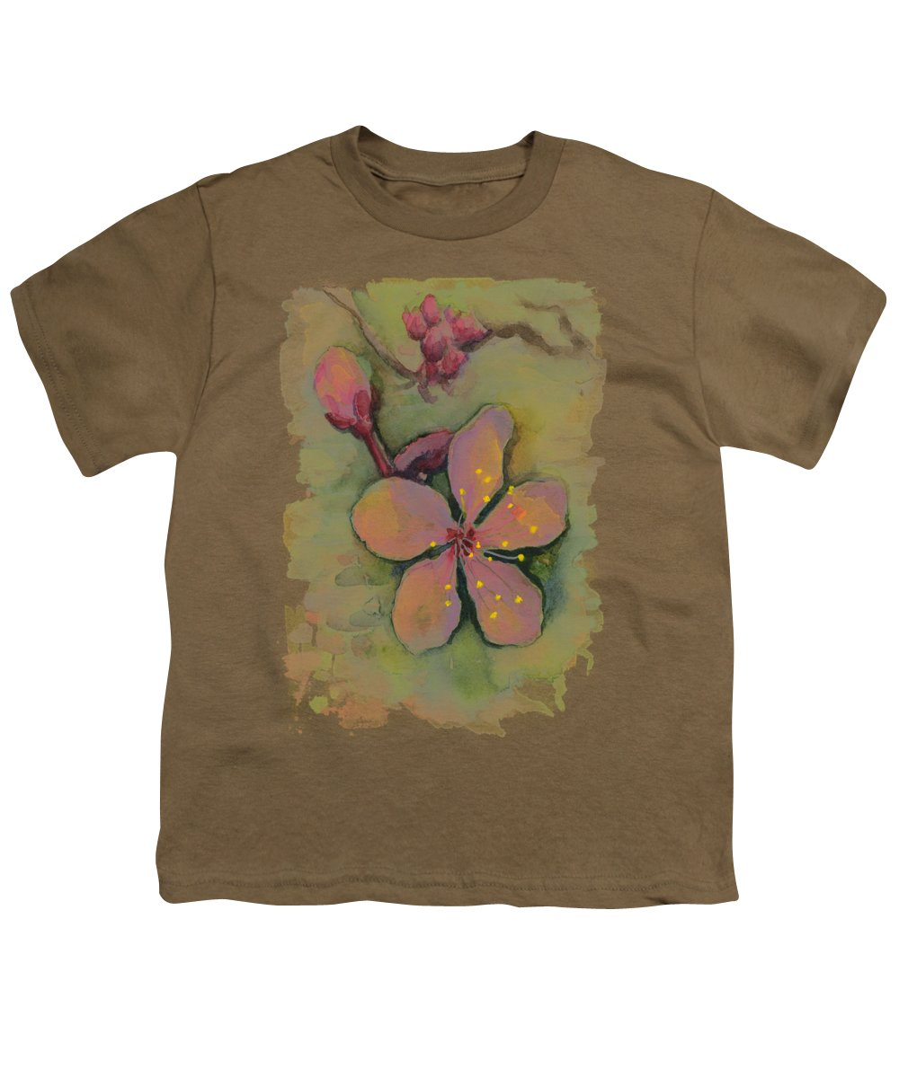 Pink Flowers Youth T-Shirts