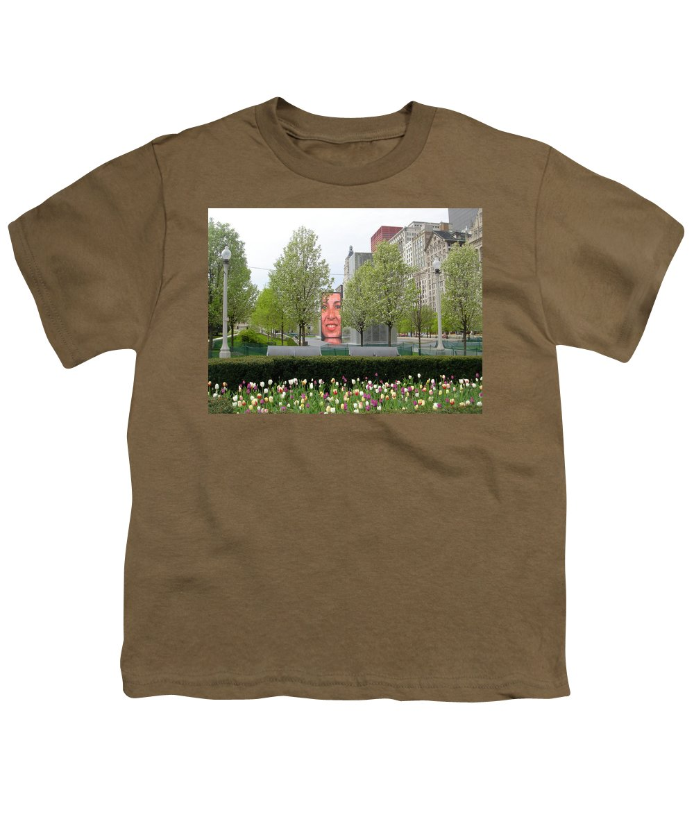 Chicago Youth T-Shirt featuring the photograph Chicago by Jean Macaluso