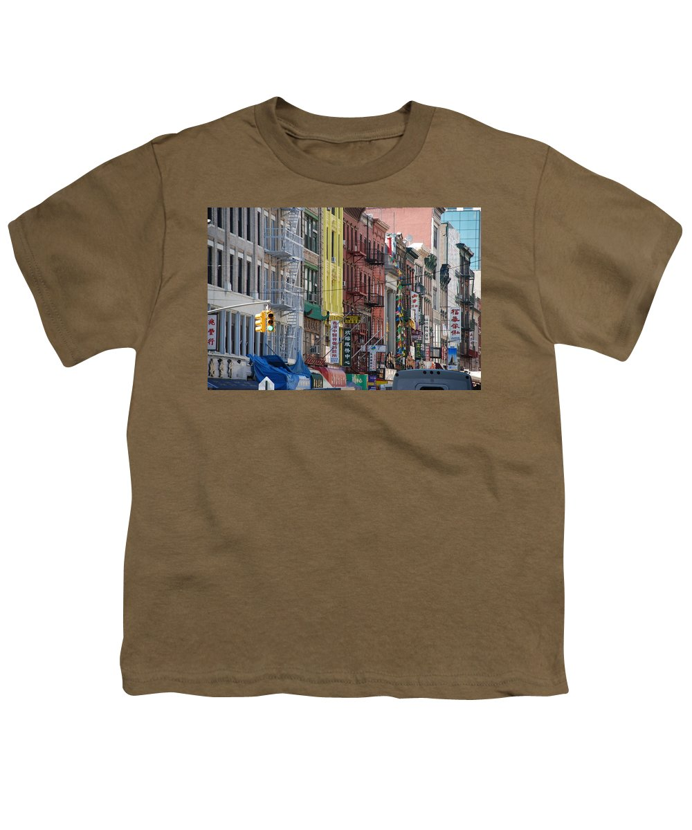 Architecture Youth T-Shirt featuring the photograph Chinatown Walk Ups by Rob Hans