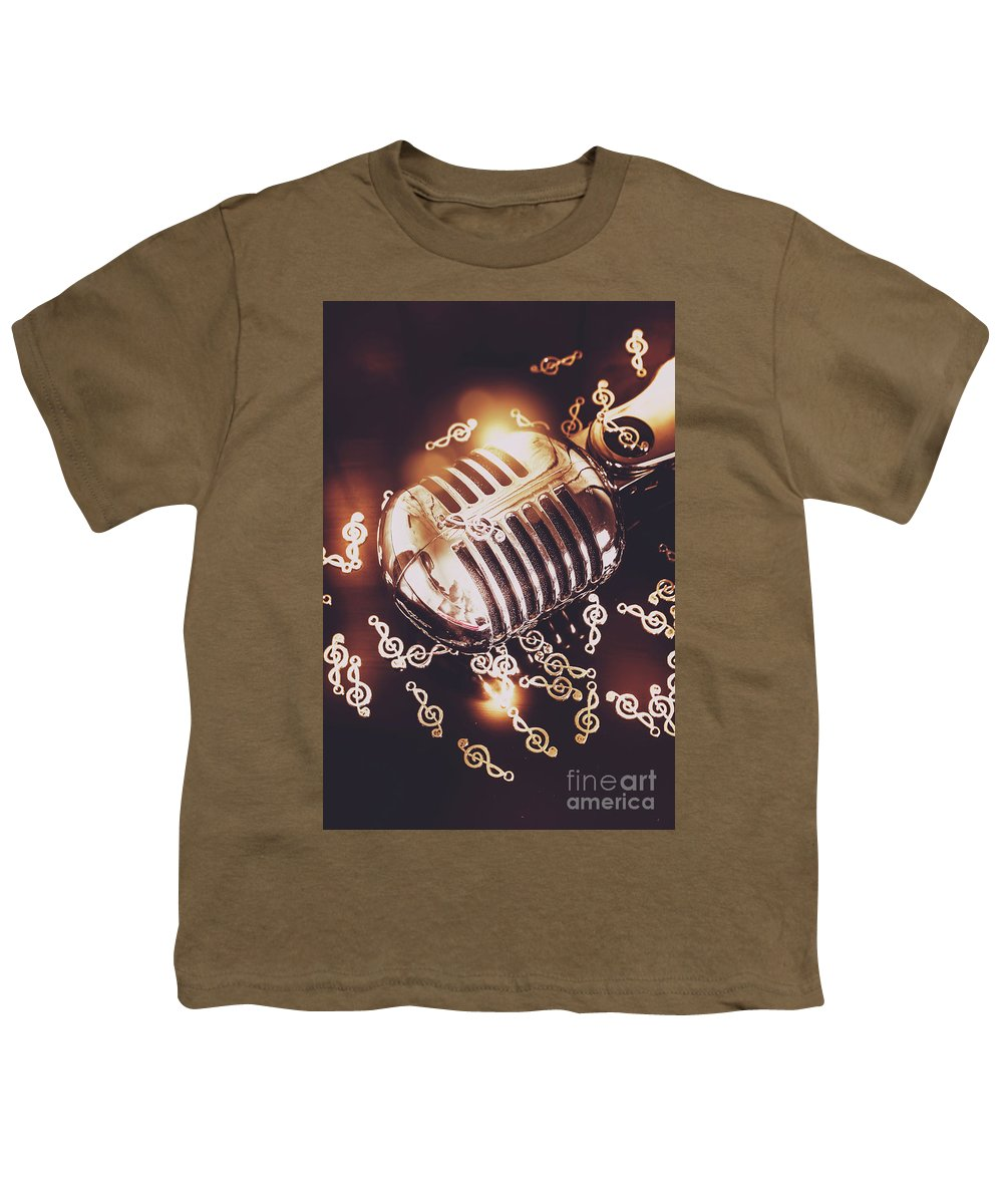 Microphone Youth T-Shirt featuring the photograph Classics At The Audio Hall by Jorgo Photography - Wall Art Gallery