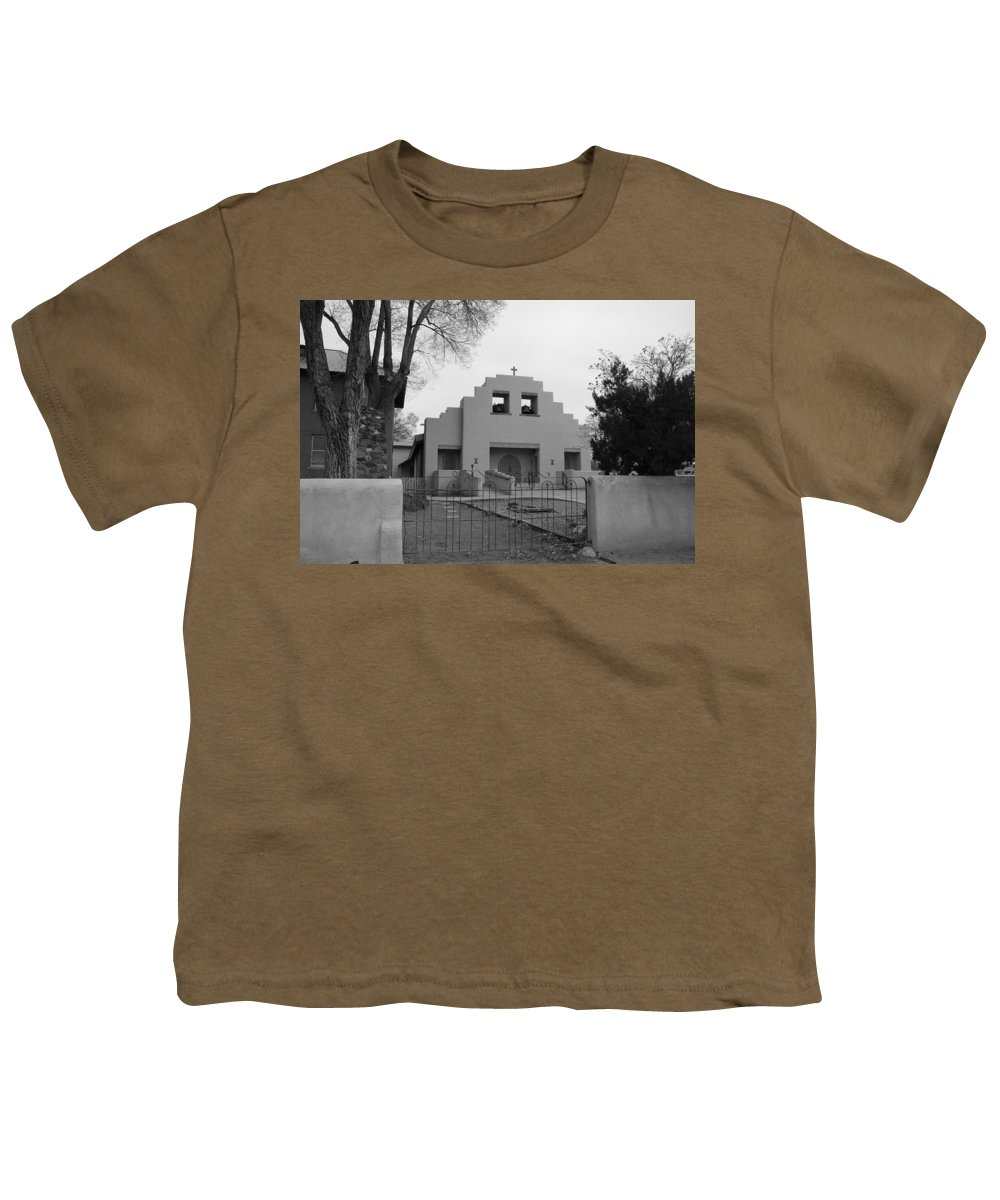 Architecture Youth T-Shirt featuring the photograph Cochiti Church by Rob Hans