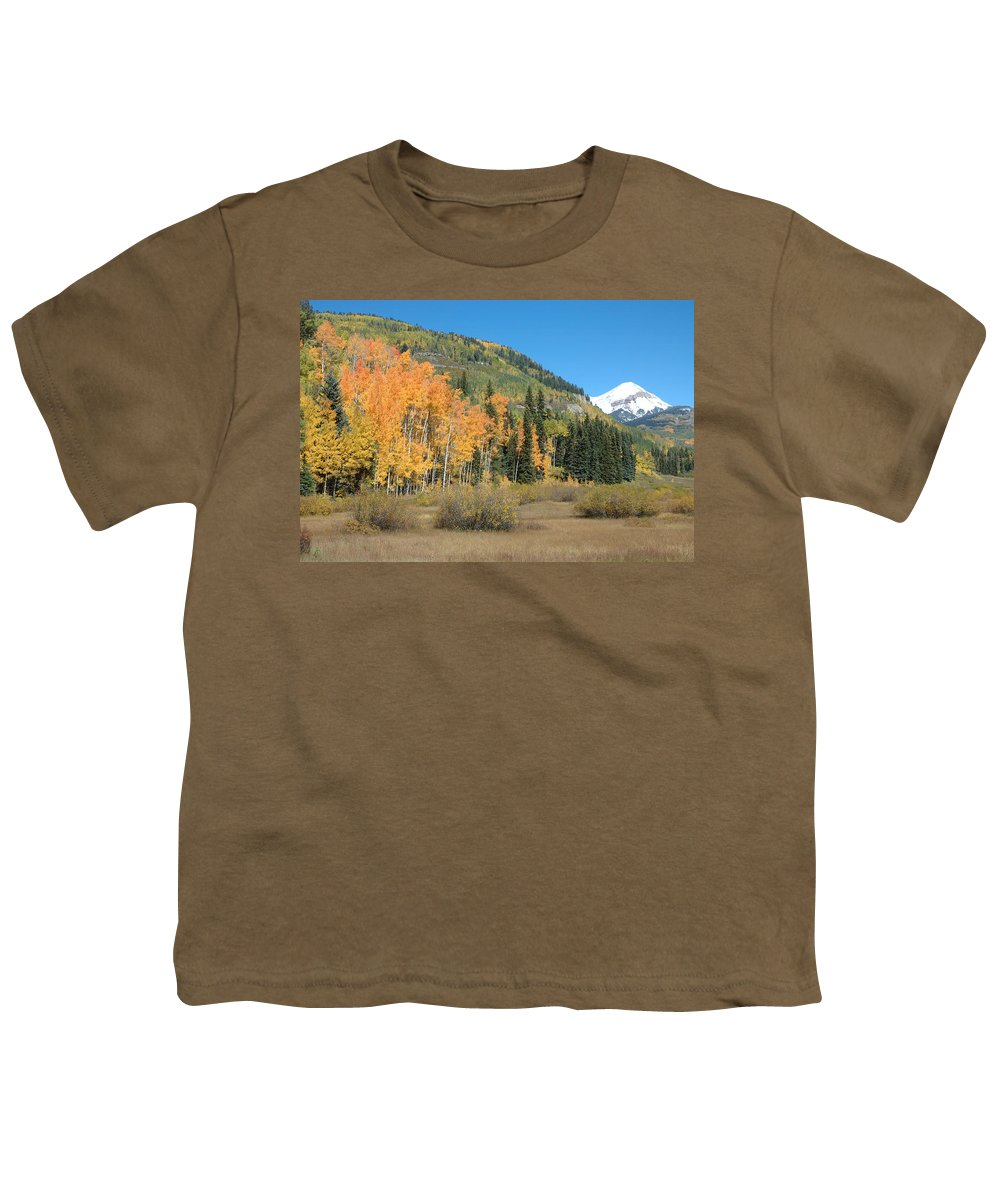 Aspen Youth T-Shirt featuring the photograph Colorado Gold by Jerry McElroy