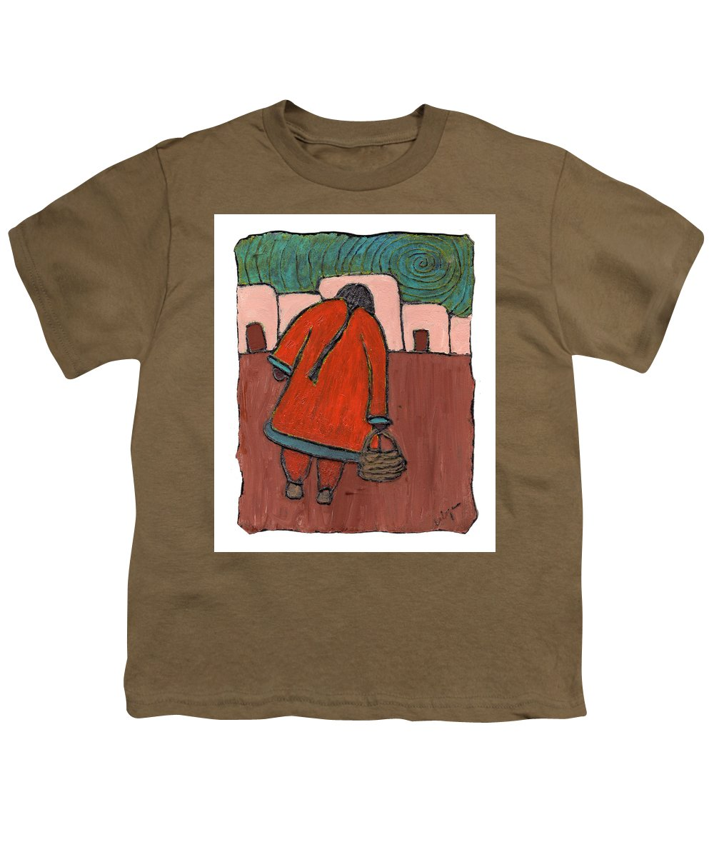 Southwest Youth T-Shirt featuring the painting Coming Home by Wayne Potrafka