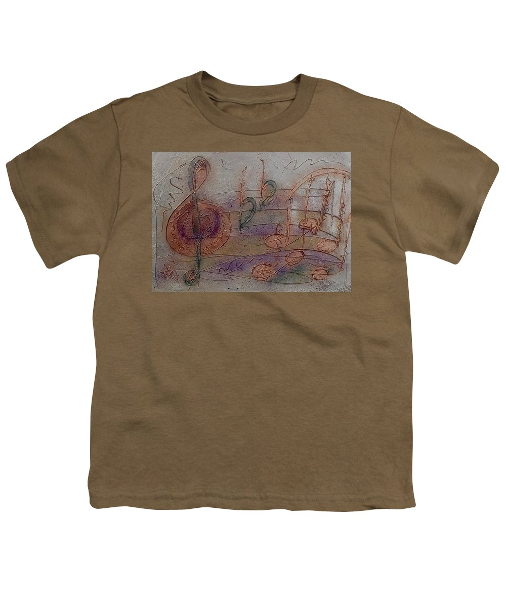 Impressionist Youth T-Shirt featuring the painting Composition In B Flat by Anita Burgermeister