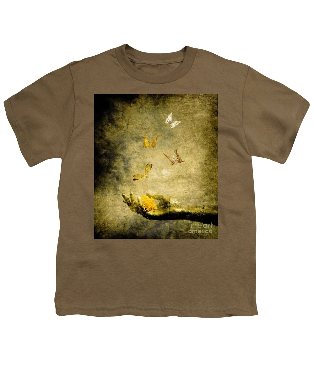 Inspirational Youth T-Shirt featuring the painting Connect by Jacky Gerritsen