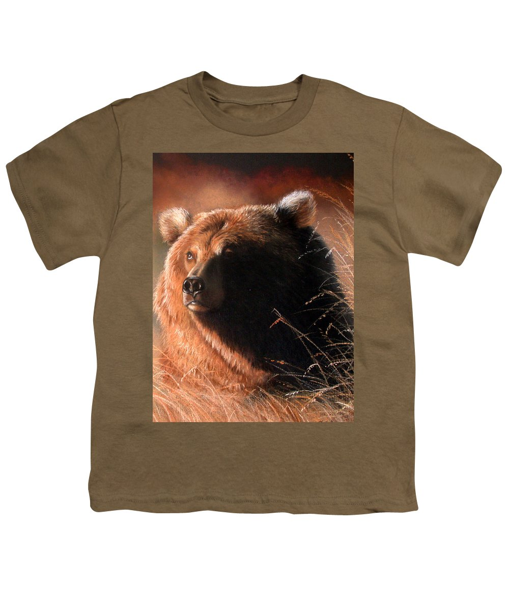 Wildlife Youth T-Shirt featuring the painting Day Dream by Deb Owens-Lowe