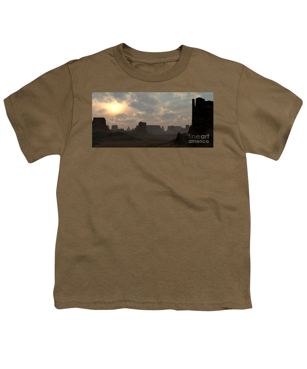 Desert Youth T-Shirt featuring the digital art Desert Morning by Richard Rizzo