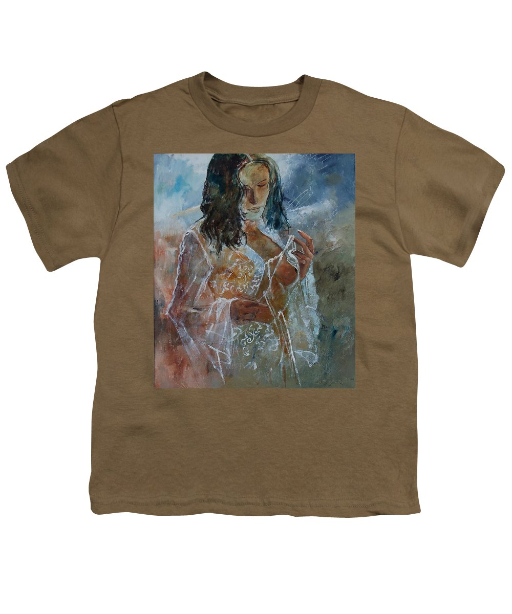 Nude Youth T-Shirt featuring the painting Deshabille 67 by Pol Ledent