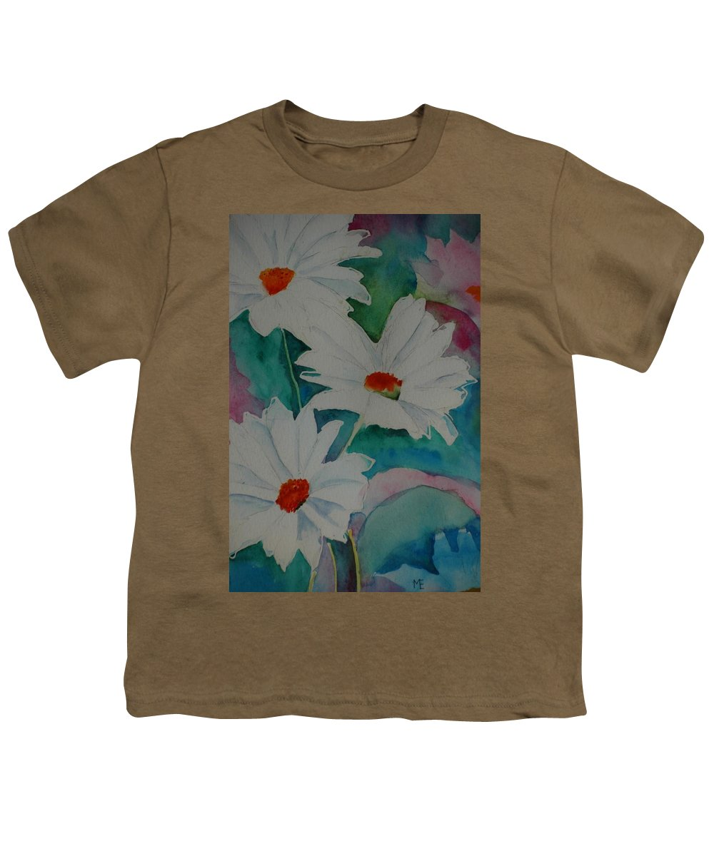 Daisies Youth T-Shirt featuring the painting Devin's Dasies by Melinda Etzold