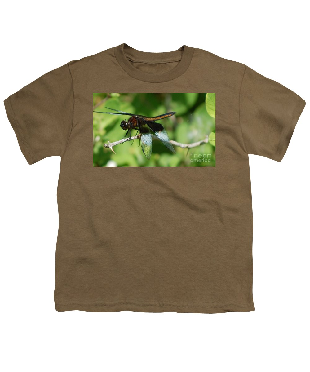 Digitall Photo Youth T-Shirt featuring the photograph Dragon Fly by David Lane