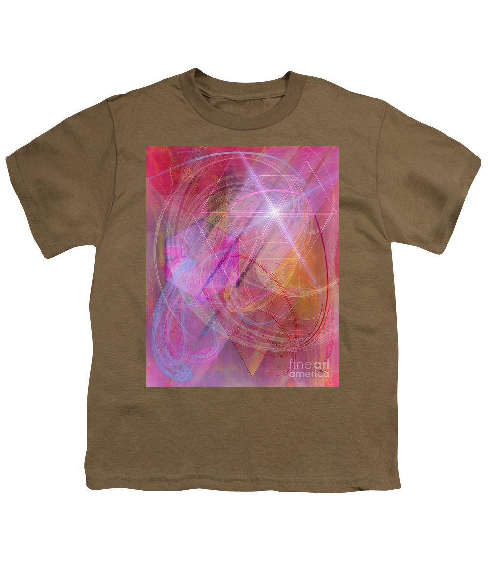 Dragon's Gem Youth T-Shirt featuring the digital art Dragon's Gem by John Beck