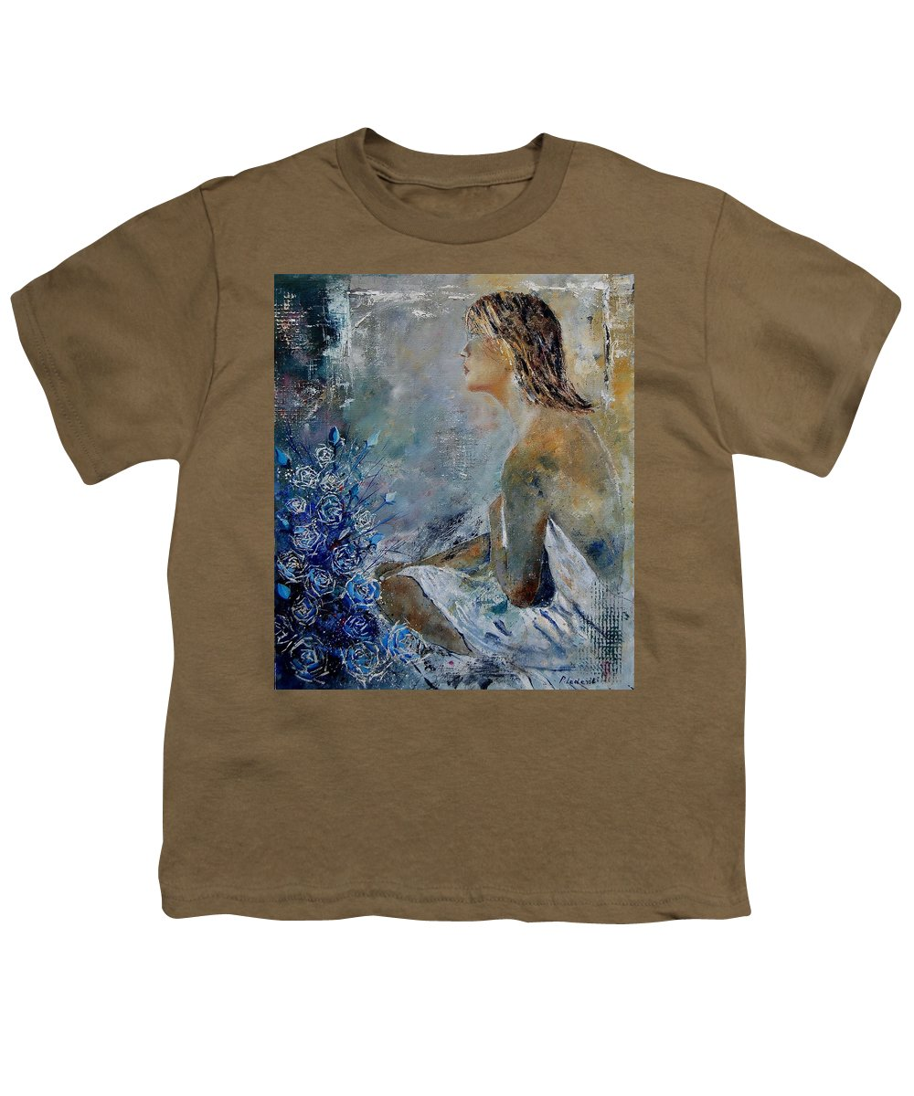 Girl Youth T-Shirt featuring the painting Dreaming Young Girl by Pol Ledent