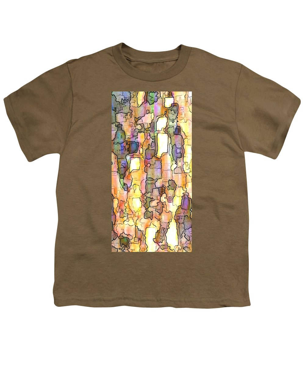 Abstract Youth T-Shirt featuring the digital art Elation Panel Two Of Two by Linda Mears