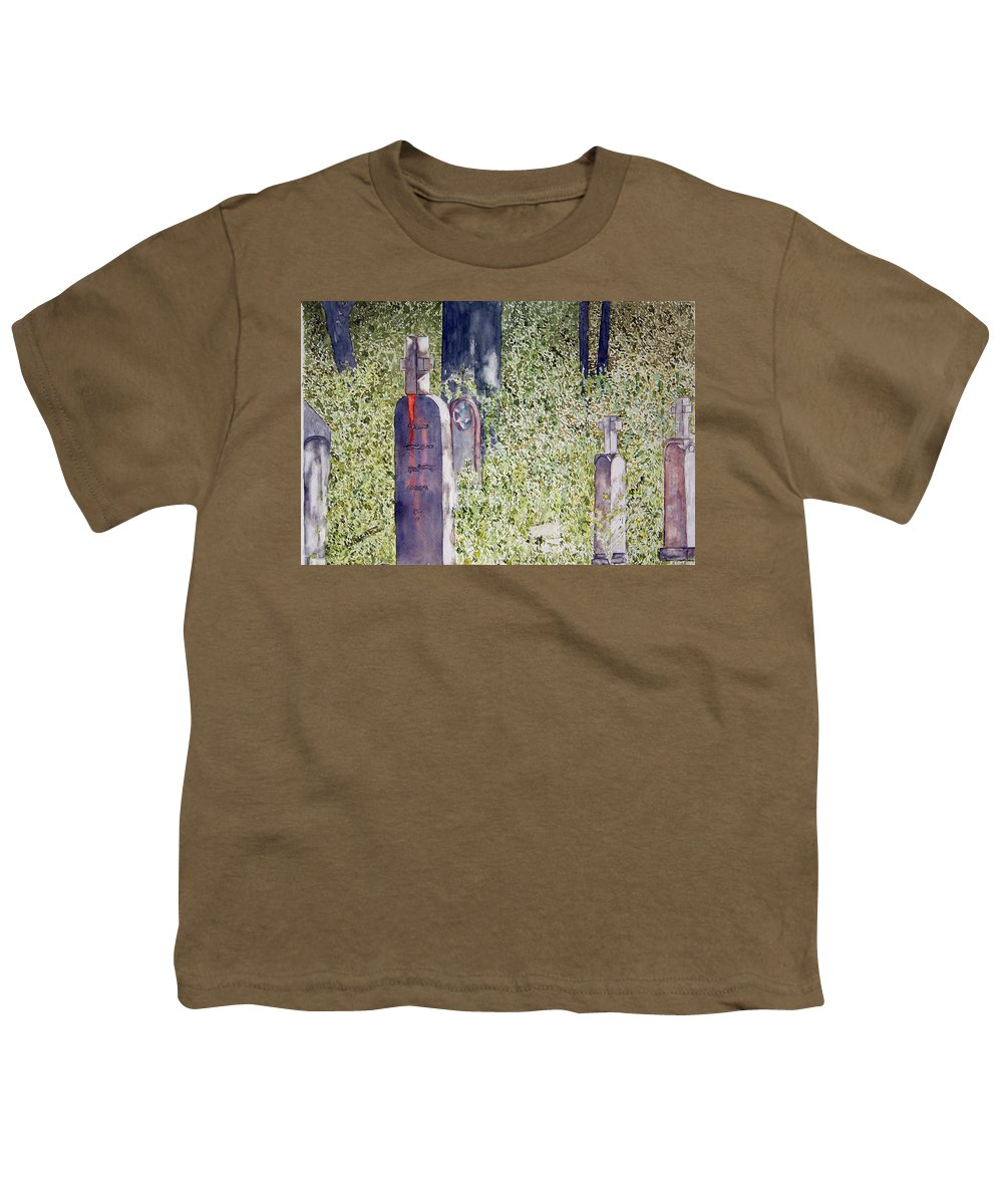 Cemeteries Youth T-Shirt featuring the painting Eternity In Hoonah by Larry Wright