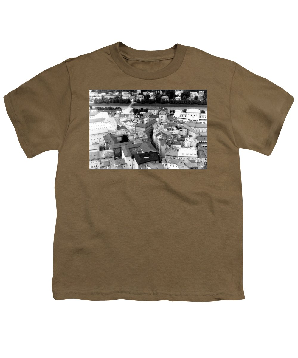 Rofftops Youth T-Shirt featuring the photograph European Rooftops by Michelle Calkins