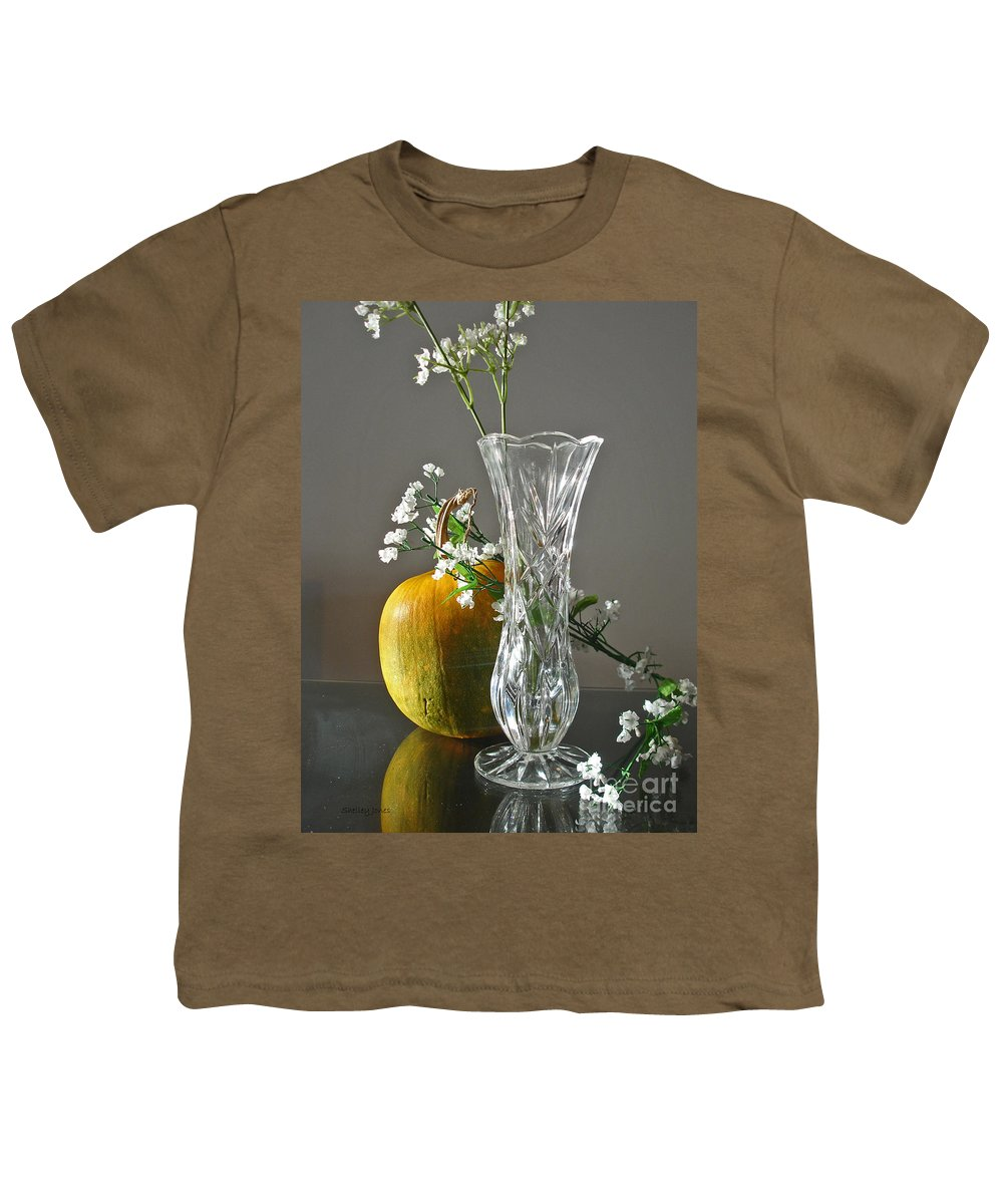 Still Life Youth T-Shirt featuring the photograph Everlasting Harvest by Shelley Jones