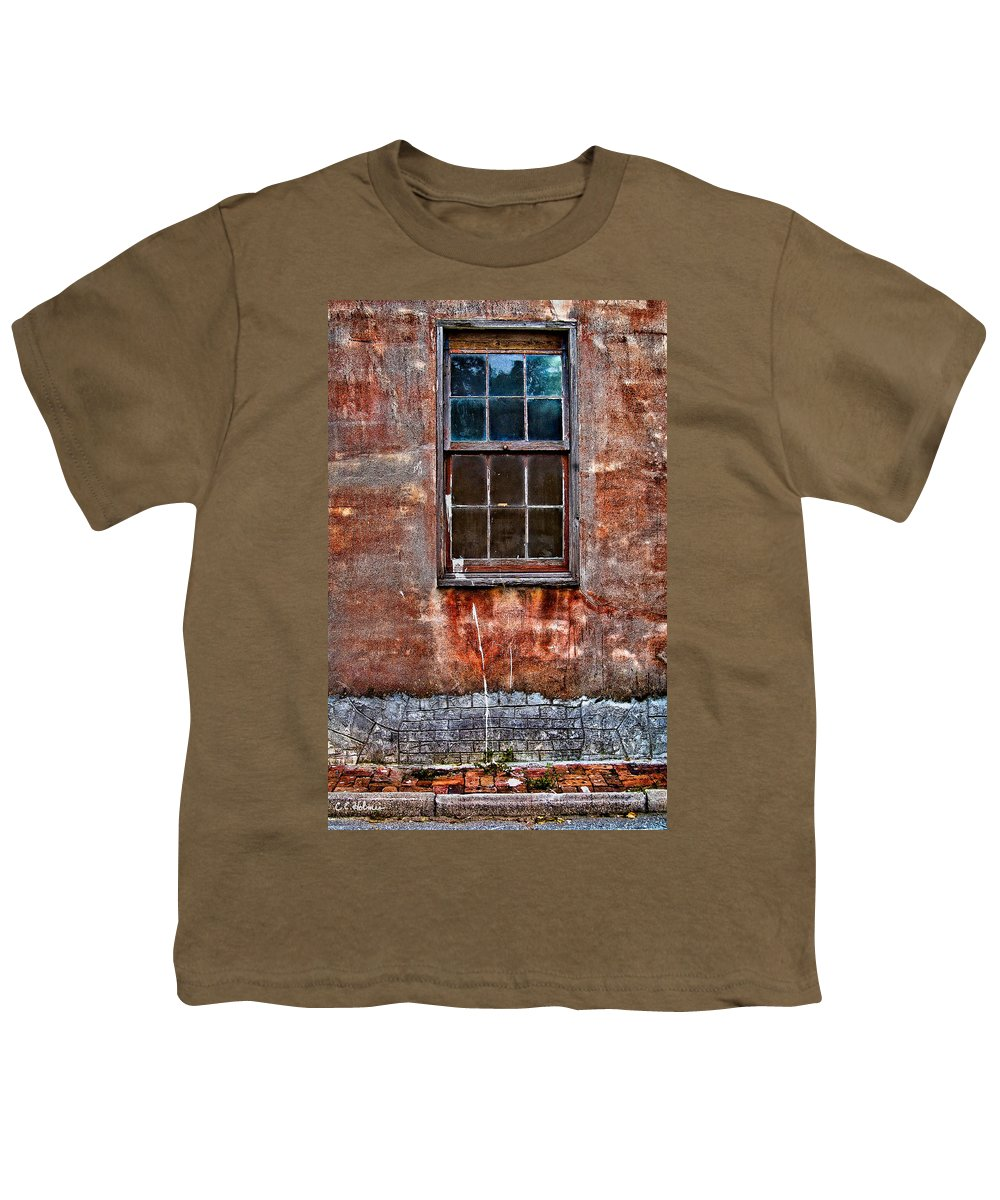 Window Youth T-Shirt featuring the photograph Faded Over Time by Christopher Holmes