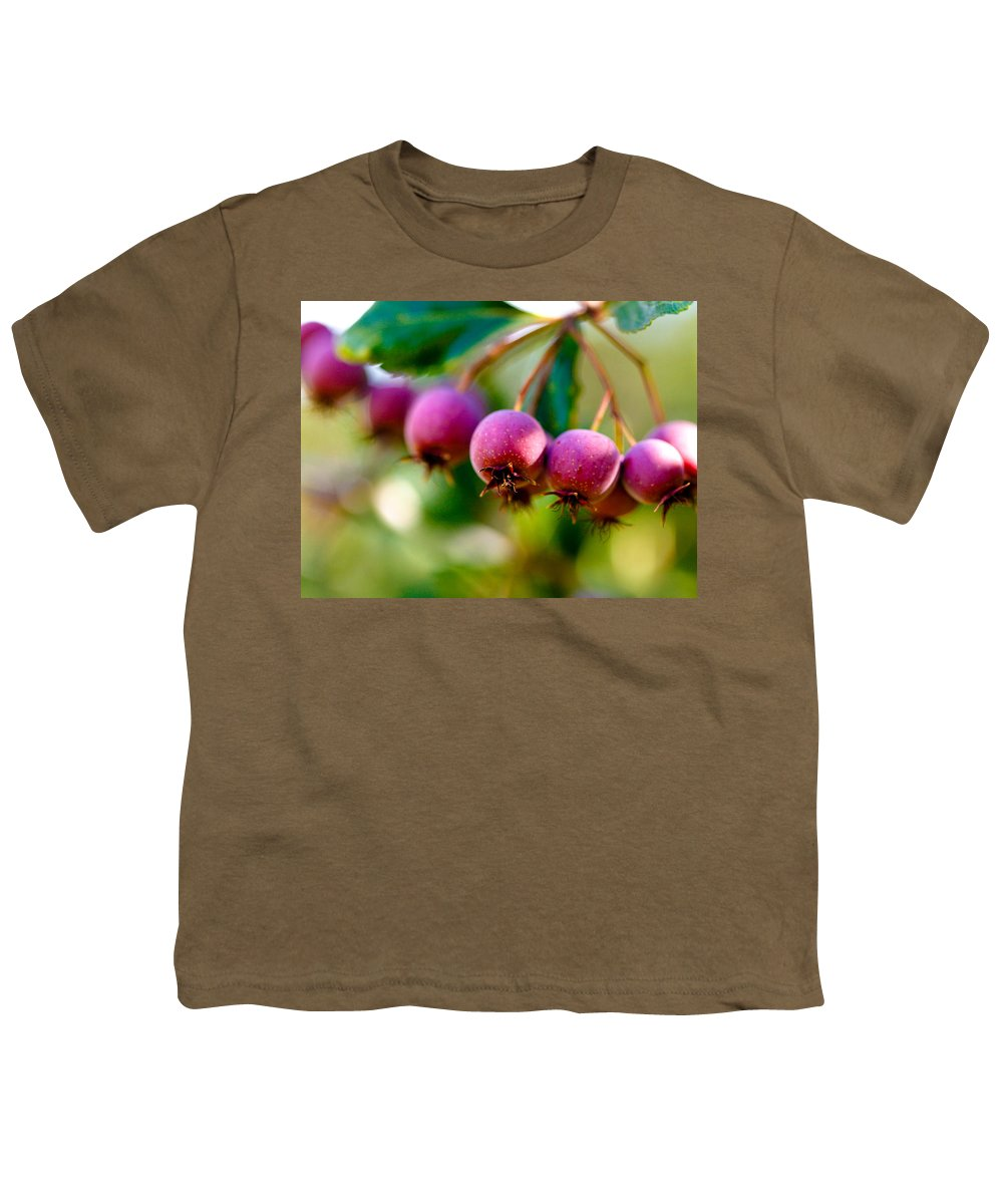 Berry Youth T-Shirt featuring the photograph Fall Berries by Marilyn Hunt