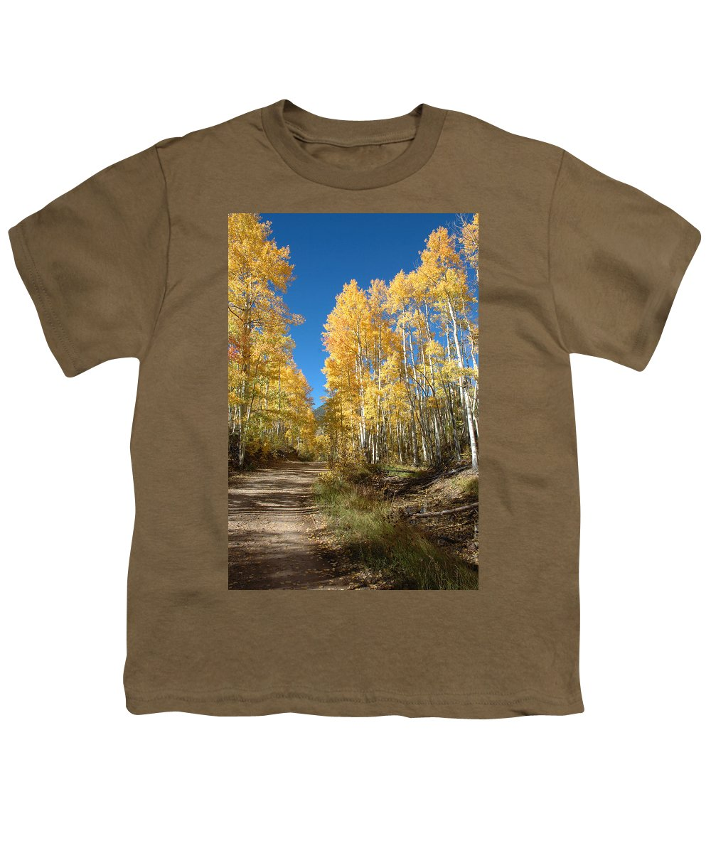 Landscape Youth T-Shirt featuring the photograph Fall Road by Jerry McElroy