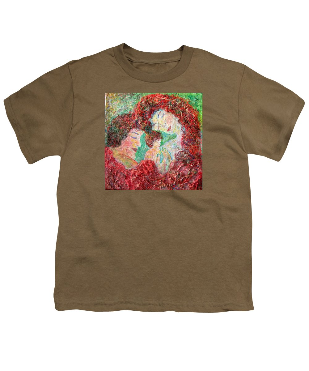 Mother Youth T-Shirt featuring the painting Family Safety by Naomi Gerrard