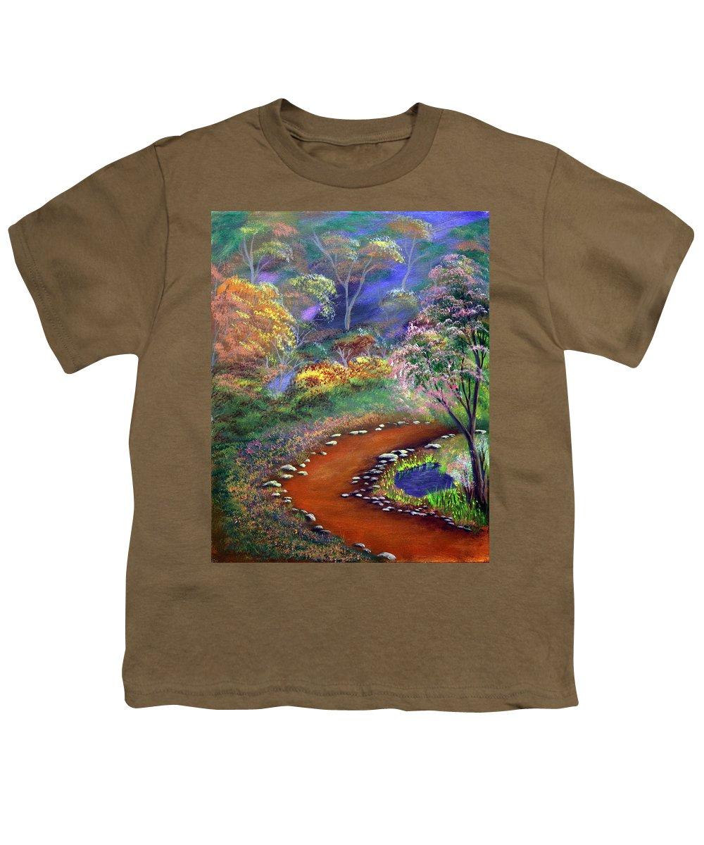 Dawn Blair Youth T-Shirt featuring the painting Fantasy Path by Dawn Blair