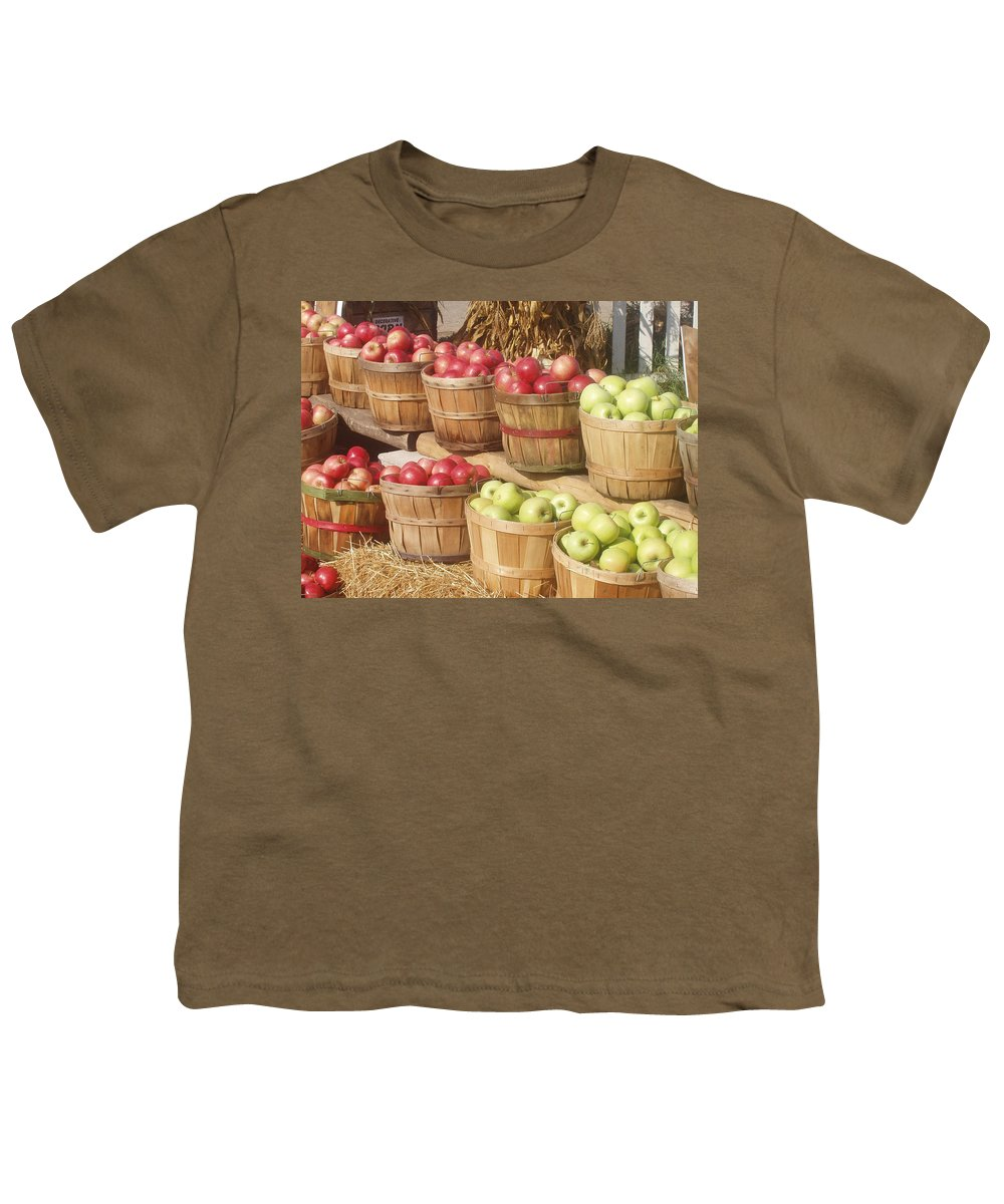 Farmers Market Youth T-Shirt featuring the photograph Farmer's Market Apples by Wayne Potrafka