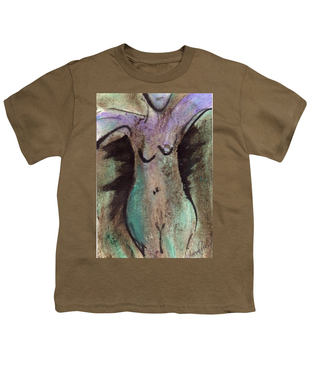 Nude Youth T-Shirt featuring the painting Female Nude Torso 1 by Wayne Potrafka