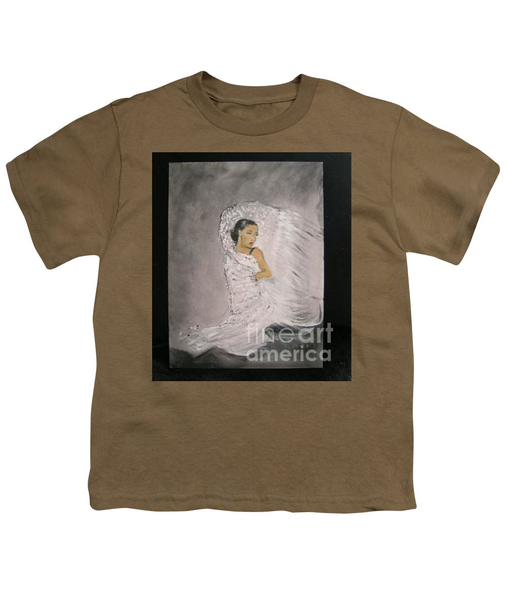 Spain Youth T-Shirt featuring the painting Flamenco by Lizzy Forrester