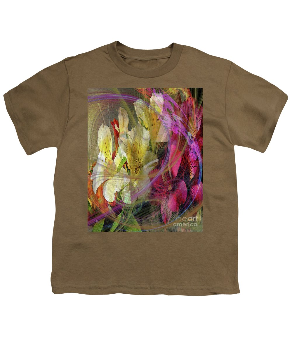 Floral Inspiration Youth T-Shirt featuring the digital art Floral Inspiration by John Beck