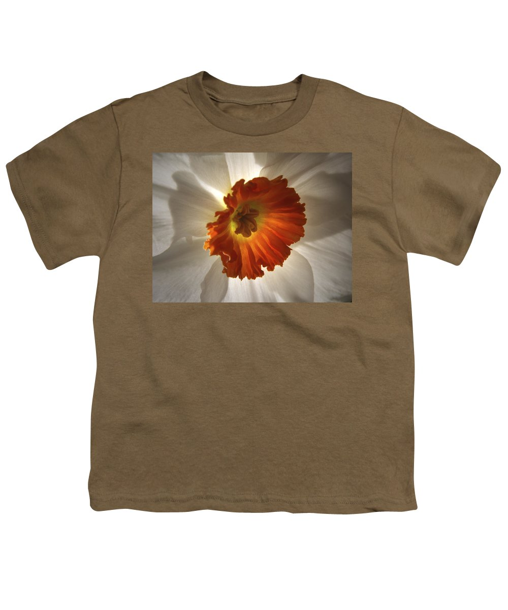 Flowers Youth T-Shirt featuring the photograph Flower Narcissus by Nancy Griswold