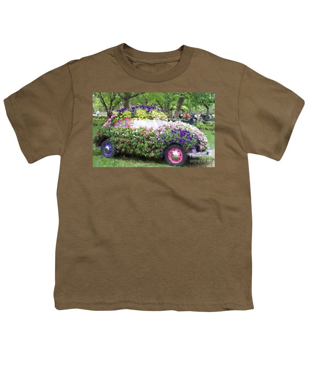 Cars Youth T-Shirt featuring the photograph Flower Power by Debbi Granruth