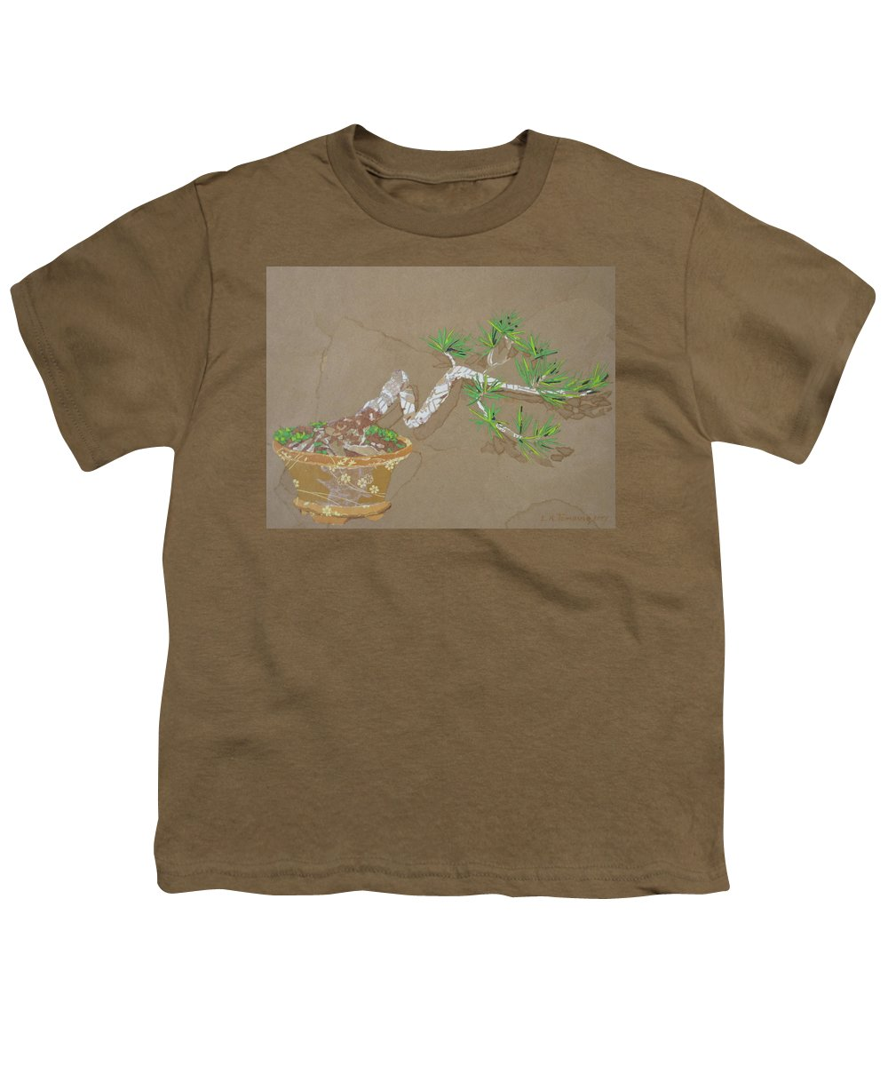Banzai Tree Youth T-Shirt featuring the painting For Inge by Leah Tomaino